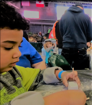Jaxon with Fossil